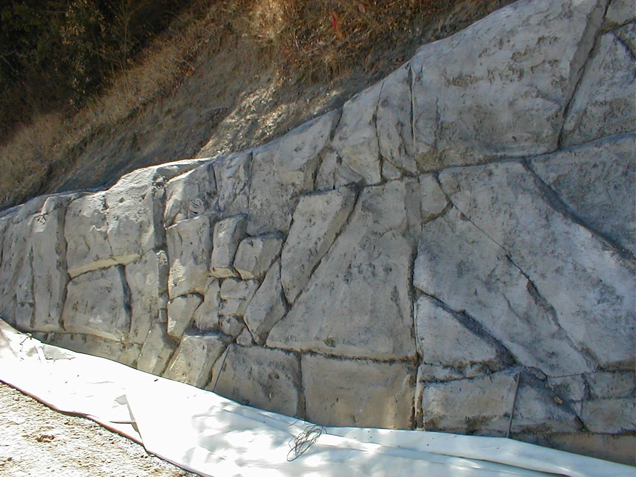 Whites hill soil nail shotcrete retaining wall photos for Soil nail wall